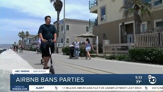 Airbnb bans parties, limits capacity to 16