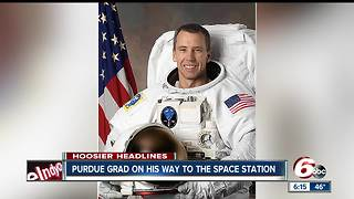 Purdue grad heads to the International Space Station - Video