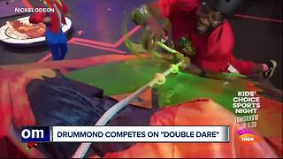 Andre Drummond competes on 'Double Dare'