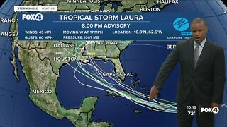 Tropical Storm Laura Late PM Update 8/21/20