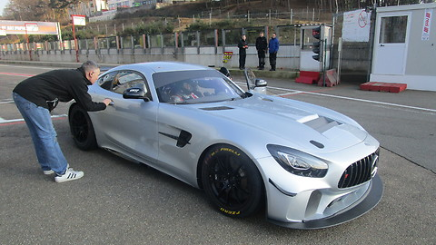 Mercedes AMG GT4 at Testday Zolder 2018-02-22