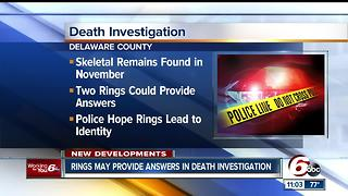 Police hope two rings can help them identify a person found dead along railroad tracks in Delaware County - Video