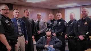 Man With Terminal Cancer Becomes Honorary Cop - Video