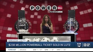 Powerball ticket worth $238 million sold at Publix in Lutz
