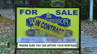 Making sure you can afford your mortgage