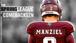Johnny Manziel Announces His Pro Comeback, Starting with the Spring League - Video