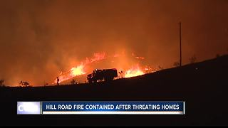 Boise Foothill fire contained, homes safe - Video