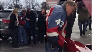 Grandson surprises grandfather with restored car on his 81st birthday