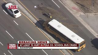 Injuries reported on school bus crash in Davenport