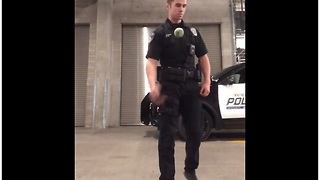 If You Blink You'll Miss This Lightning Fast Police Dog Catching A Ball - Video