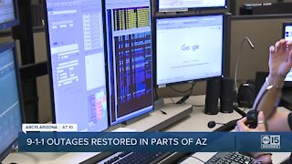 9-1-1 outages restored in parts of Arizona