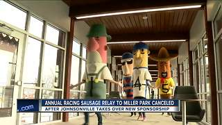 Racing sausage relay to Miller Park is canceled due to new sponsor - Video