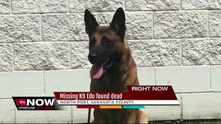 Missing Sheriff's Office K9 found dead in North Port - Video