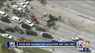 How did suspected shooter get on I-95? - Video