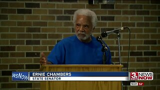 Ernie Chambers speaks up against juvenile justice center