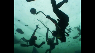 Underwater Ice Hockey