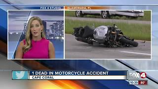 Man killed in motorcycle crash in Cape Coral - Video