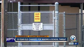 13-year-old arrested in Martin County for making school threat