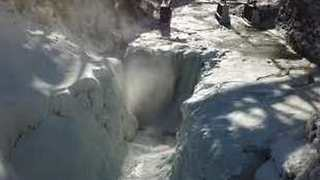 Drone Footage Captures Frozen Waterfalls of Letchworth State Park - Video