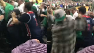 Wizards Fan Leaves Celtics Fan a BLOODY Mess After Fight During Game 7 - Video
