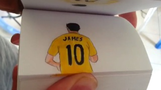 Flipbook animations featuring top 5 World Cup goals - Video