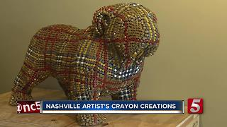 Nashville Artist Thinks Outside Box With Crayons - Video