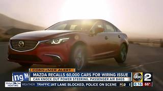 Mazda recalling 60K+ cars for potential steering problems - Video