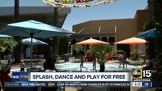 Splash, dance, play for free at Tempe Marketplace!