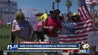 More states prepare to reopen as protests continue