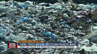 Think twice before recycling plastic bags