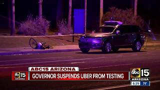 Governor Ducey suspends Uber from testing self-driving vehicles - Video
