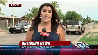 Tucson Fire responds to 7-year-old boy's near drowning in midtown - Video