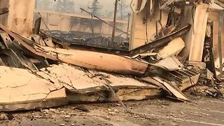 Buildings Destroyed in Santa Rosa by Devastating Wildfire - Video
