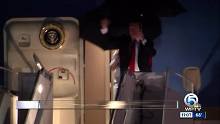 President Trump, First Lady Melania Trump arrive in West Palm Beach - Video
