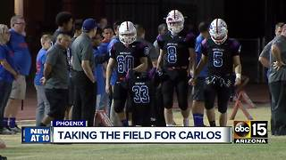 Moon Valley High School takes football field after losing player just a week ago - Video