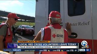 Florida Red Cross volunteers leaving for Hurricane Florence relief - Video