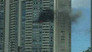 Smoke Rises From Fire in Honolulu High-Rise - Video