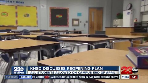 KHSD discusses phased reopening plans