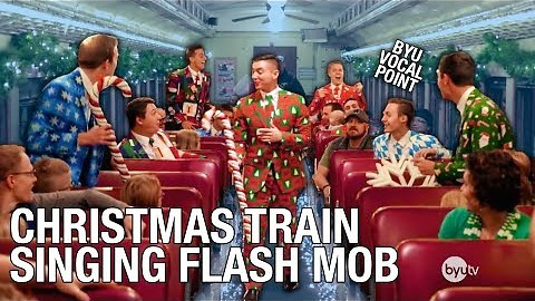 Exciting A Capella Group Brings Christmas Cheer To Train Commuters