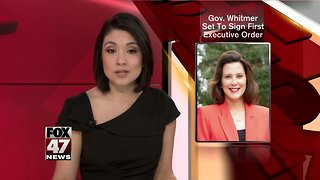 Whitmer to sign first executive order - Video