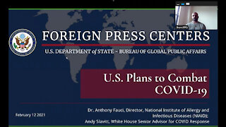 """Washington Foreign Press Center Briefing on the """"U.S. Plans to Combat Covid-19"""""""