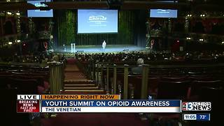 Opioid awareness youth summit occurs at the Venetian - Video