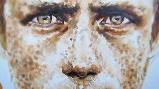 Phenomenal instant coffee portrait painting