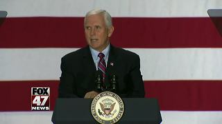 Vice President Mike Pence in Michigan to discuss tax reform - Video