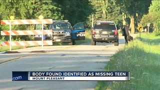 Body found in Mount Pleasant identified as missing 17-year-old Kenosha girl - Video