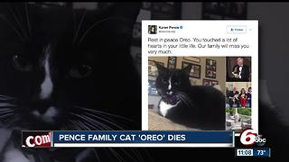 Pence family cat 'Oreo' dies - Video