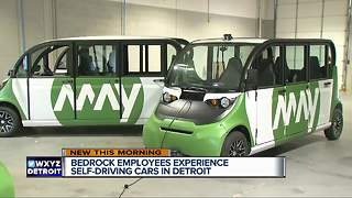 Self-driving shuttles hit downtown Detroit streets beginning Monday - Video