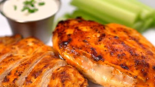 Grilled Cheesy Buffalo Chicken - Video