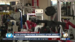 Gym owner reopens business after arrest