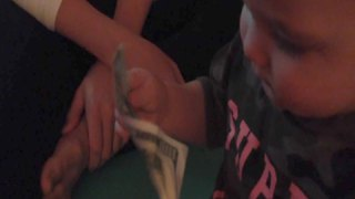 A Baby Boy Cries When His Mom Takes A Hundred Dollars From Him - Video